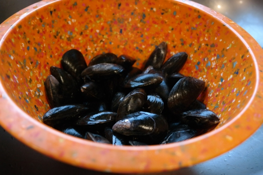 Don't forget to debeard the mussels...